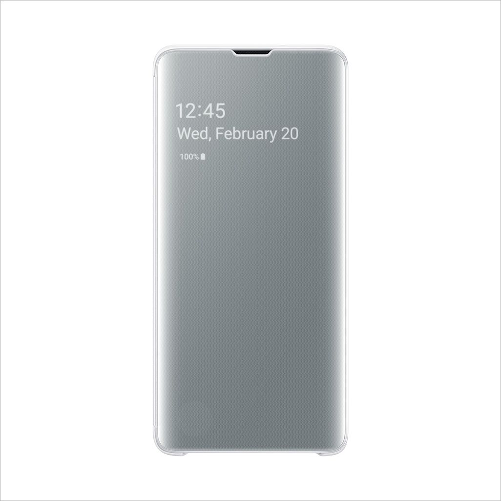 Galaxy S10 CLEAR VIEW COVER / WHITE