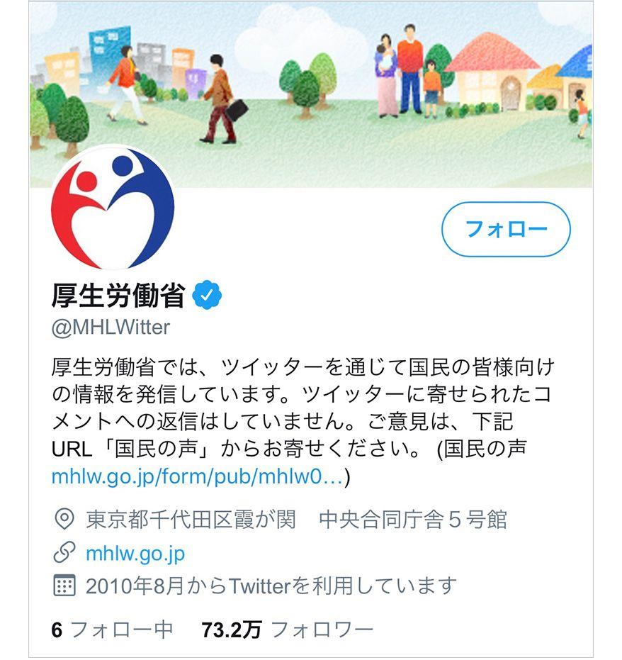 厚生労働省のTwitter