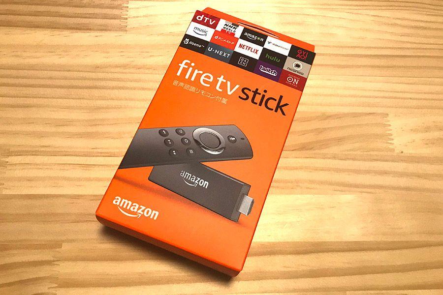 箱に入った状態のAmazon「Fire TV Stick」
