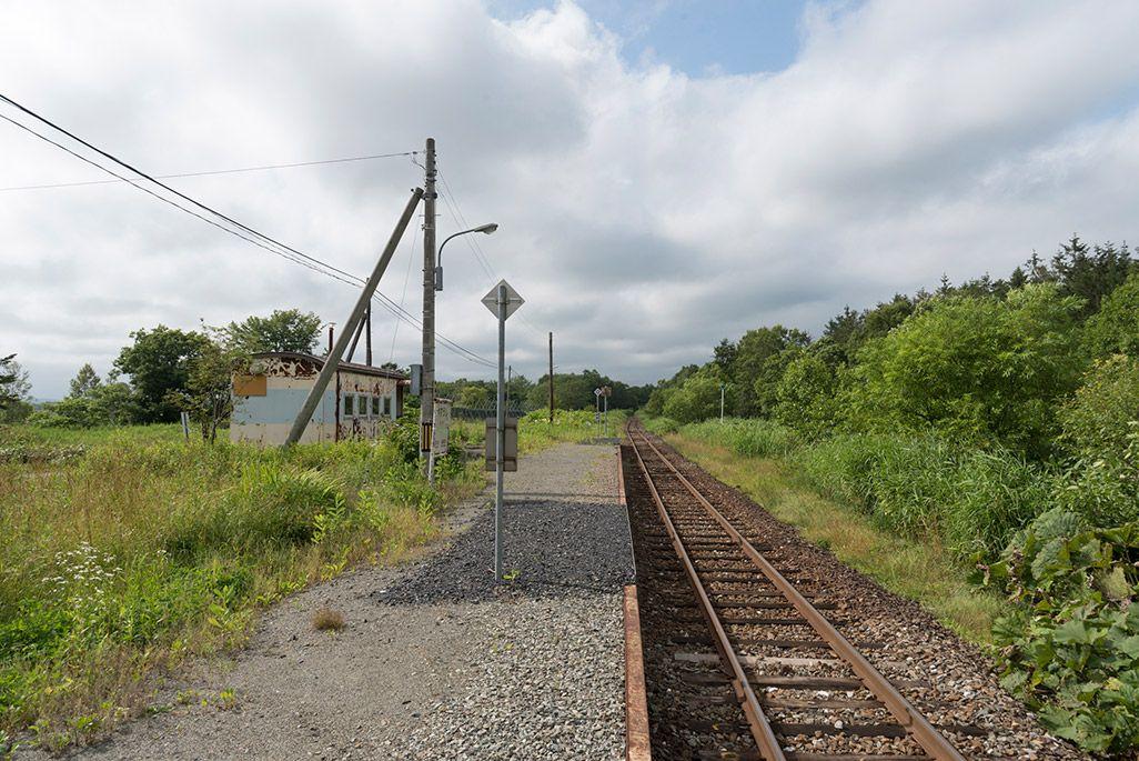 北海道 宗谷本線 安牛駅のホーム