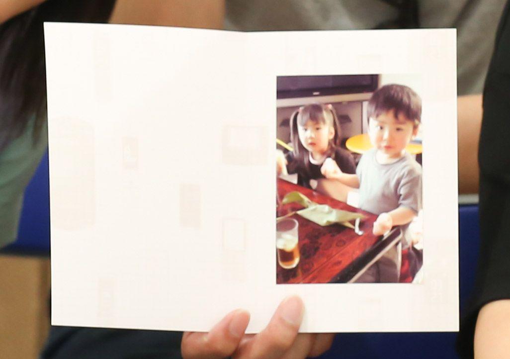 「おもいでケータイ再起動」で復活した姉弟の写真