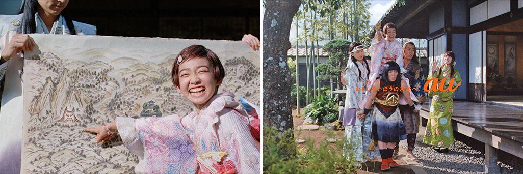 三太郎CMで鬼退治に出陣する桃姫