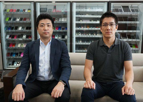 au損害保険 今井康智さん(左)とライフネット生命保険 松浦勉さん(右)