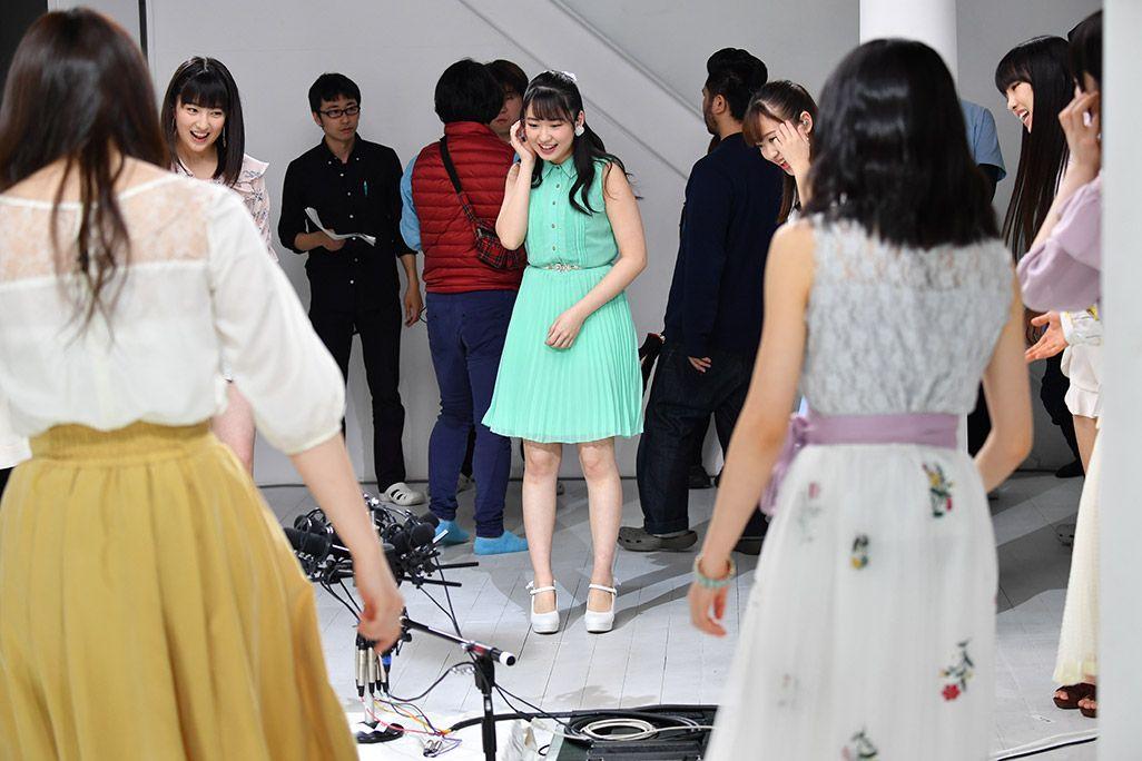 「音のVR」リハーサルで歌うモーニング娘。'18・野中美希