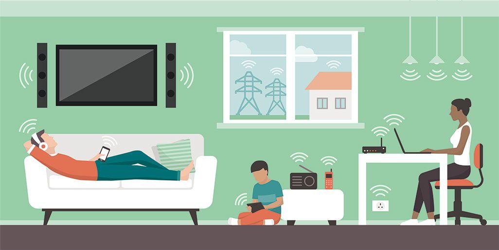 家族のWi-Fi使用イメージ
