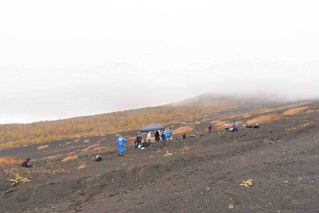 富士山御殿場ルートでの「ドローン山岳救助支援システム富士山実証実験」
