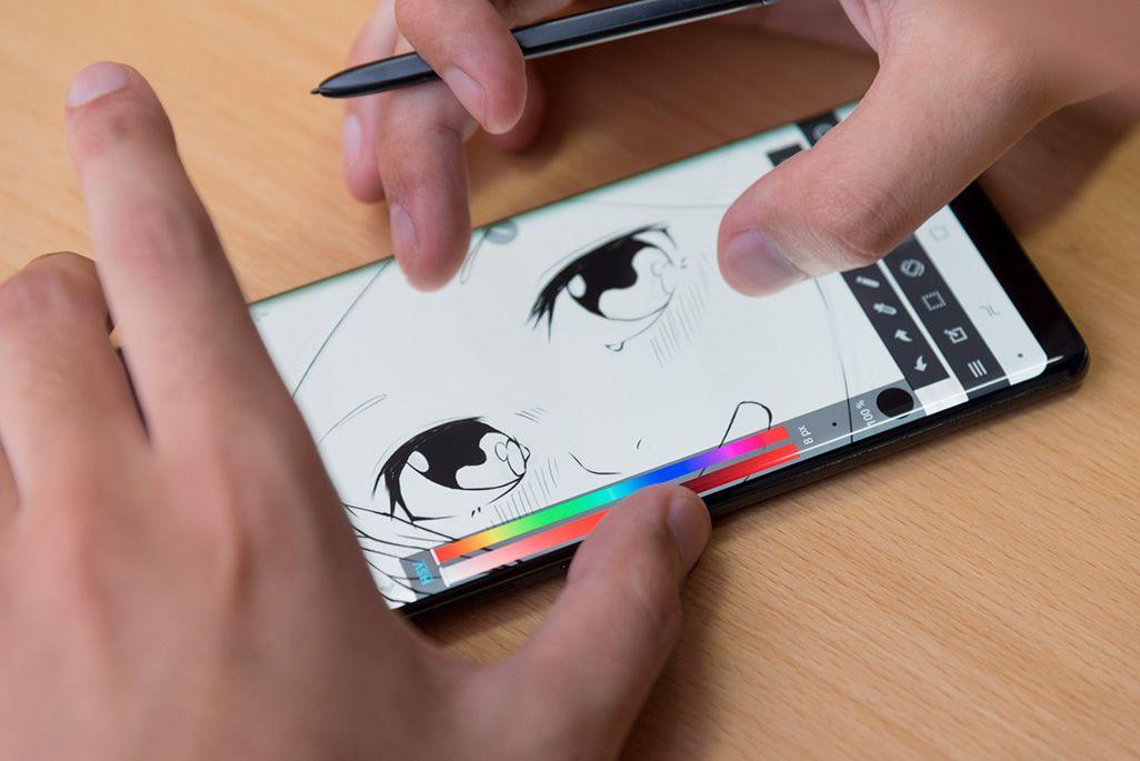 スマホと指で描く漫画家あつもりそう Galaxy Note8のsペンを試して