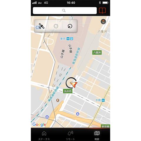 「My BMW Remote」リモート・車両サーチ機能操作画面