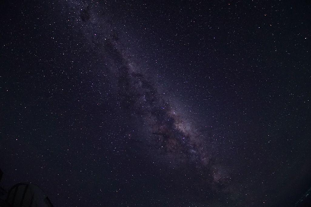南極で観測された星空