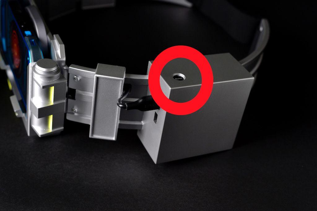 「特撮ヒーロー風TORQUE G04ベルト」のモバイルバッテリー収納ボックス