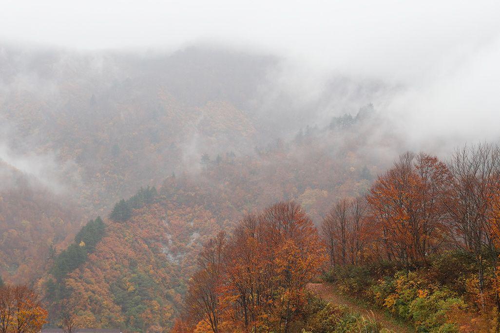 新潟県魚沼市・銀山平の山並み