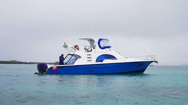 イサベラ島に向かう船