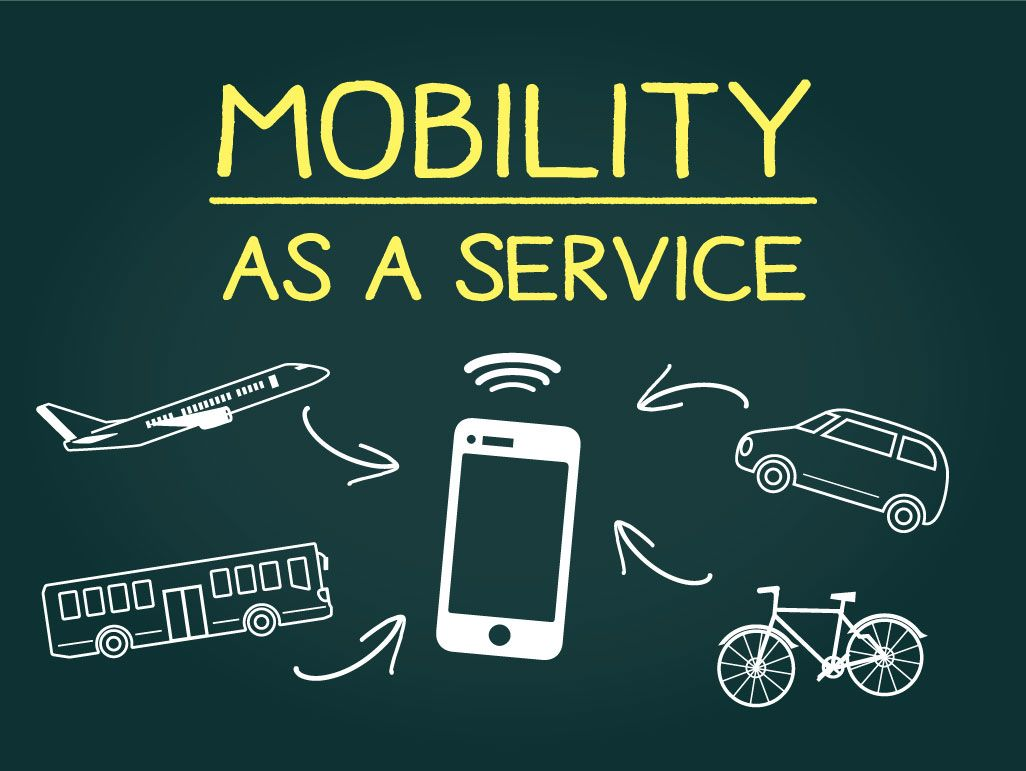 MaaS(マース:Mobility as a Service)のイメージイラスト