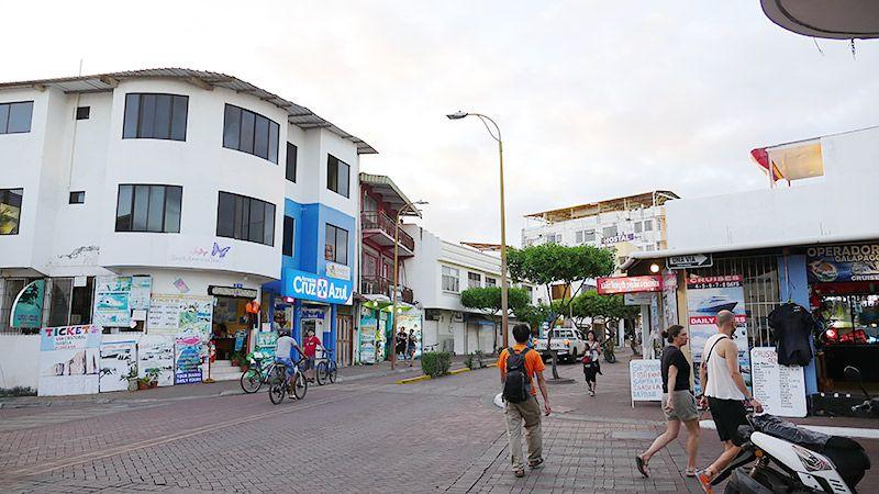 ガラパゴスの街並みの様子