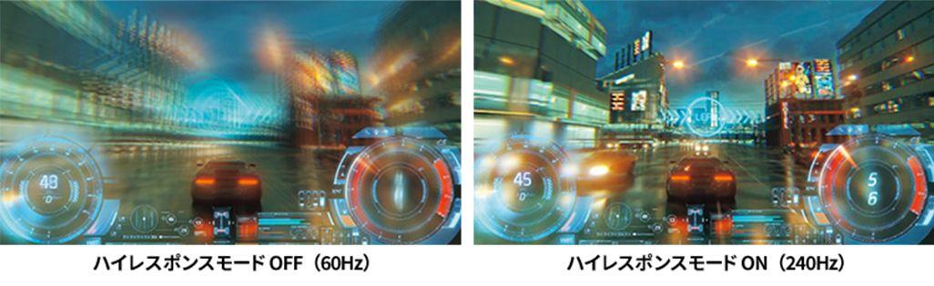 AQUOS zero5G basic DXのハイレスポンスモード