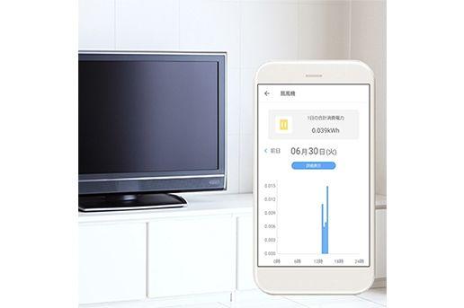 au HOME「スマートプラグ03」の電気使用量通知機能