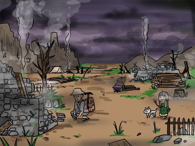 魔王が襲ってきて、家や村が半壊状態になってしまった!