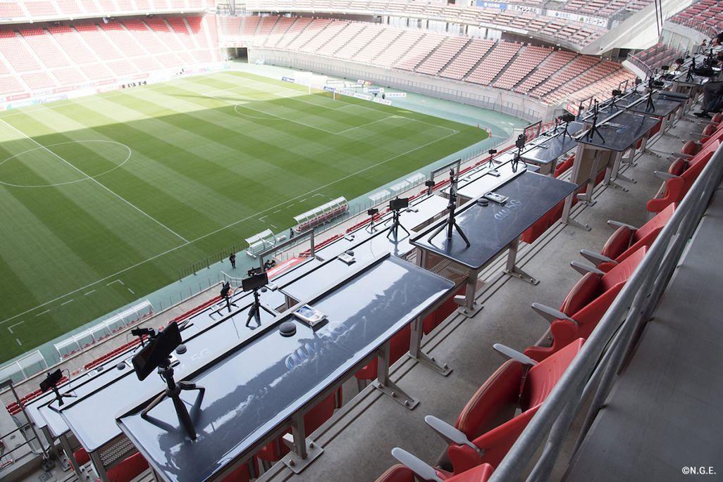 豊田スタジアムのメインスタンドに「au 5Gシート」を設置