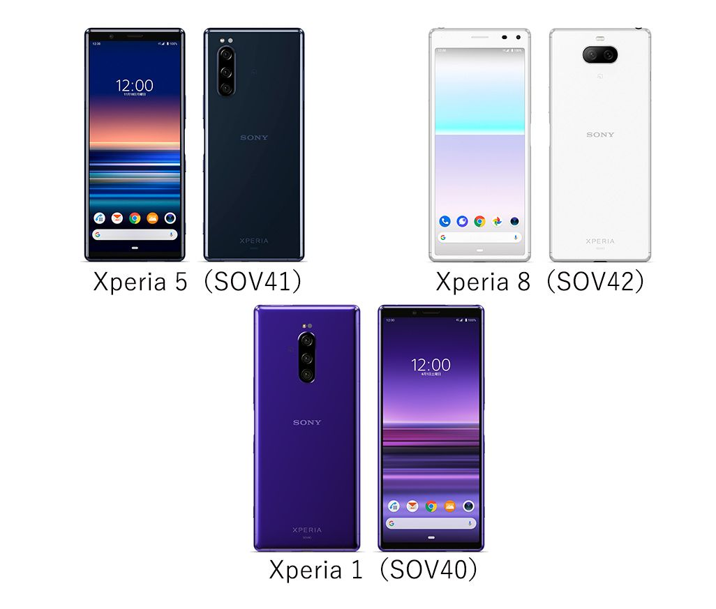 Xperia 5、Xperia 8、Xperia 1を比較