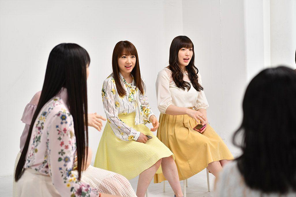 「音のVR」収録スタジオで話すモーニング娘。'18・譜久村聖と石田亜佑美