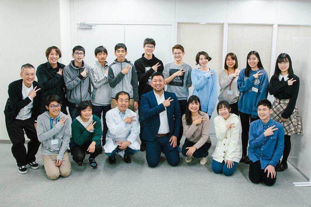 ワークショップに参加の生徒、講師、スタッフたち