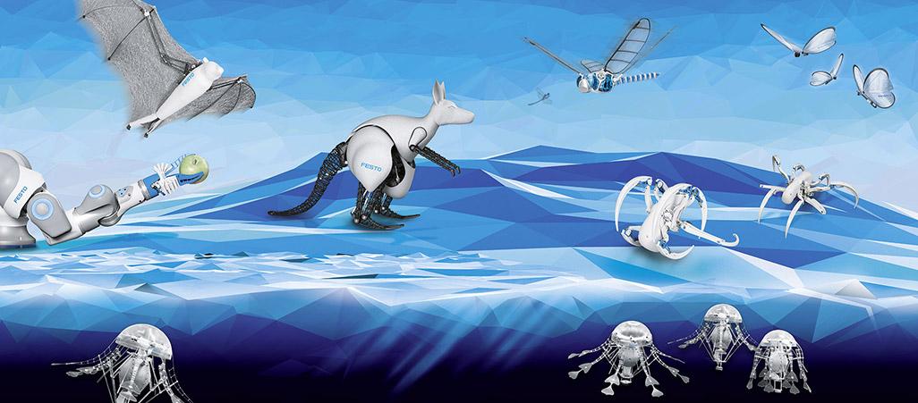 さまざまな動物を模したバイオニック・ロボット