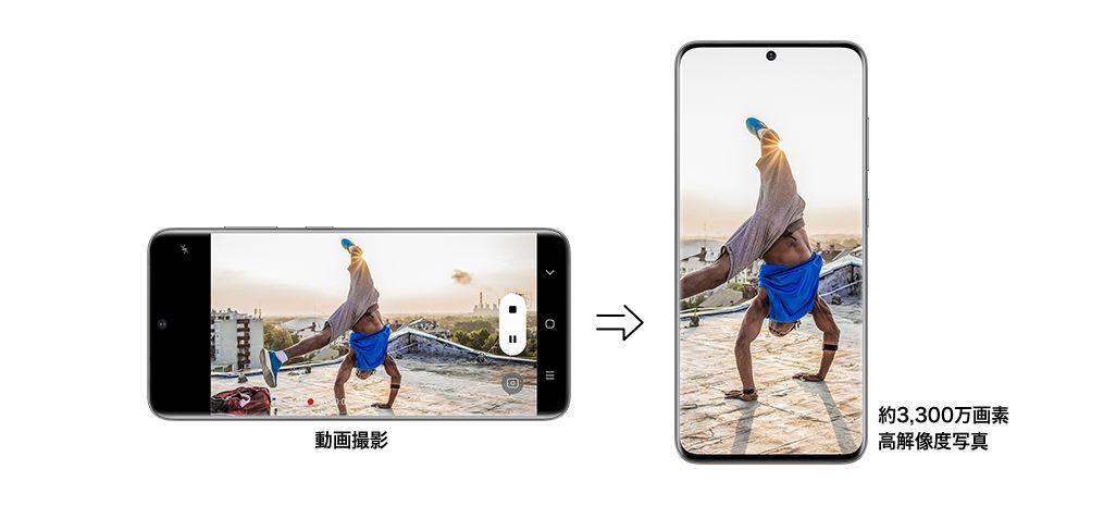 Galaxy S20 5G / Galaxy S20+ 5Gの8Kビデオスナップ機能