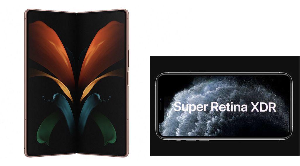 Galaxy Z Fold2 5G、iPhone 11 Pro