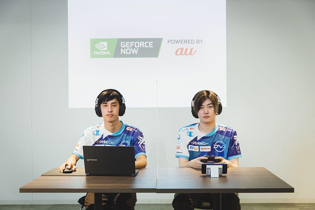 DetonatioN Gaming所属の左・ミリンケーキ選手、右・ku選手