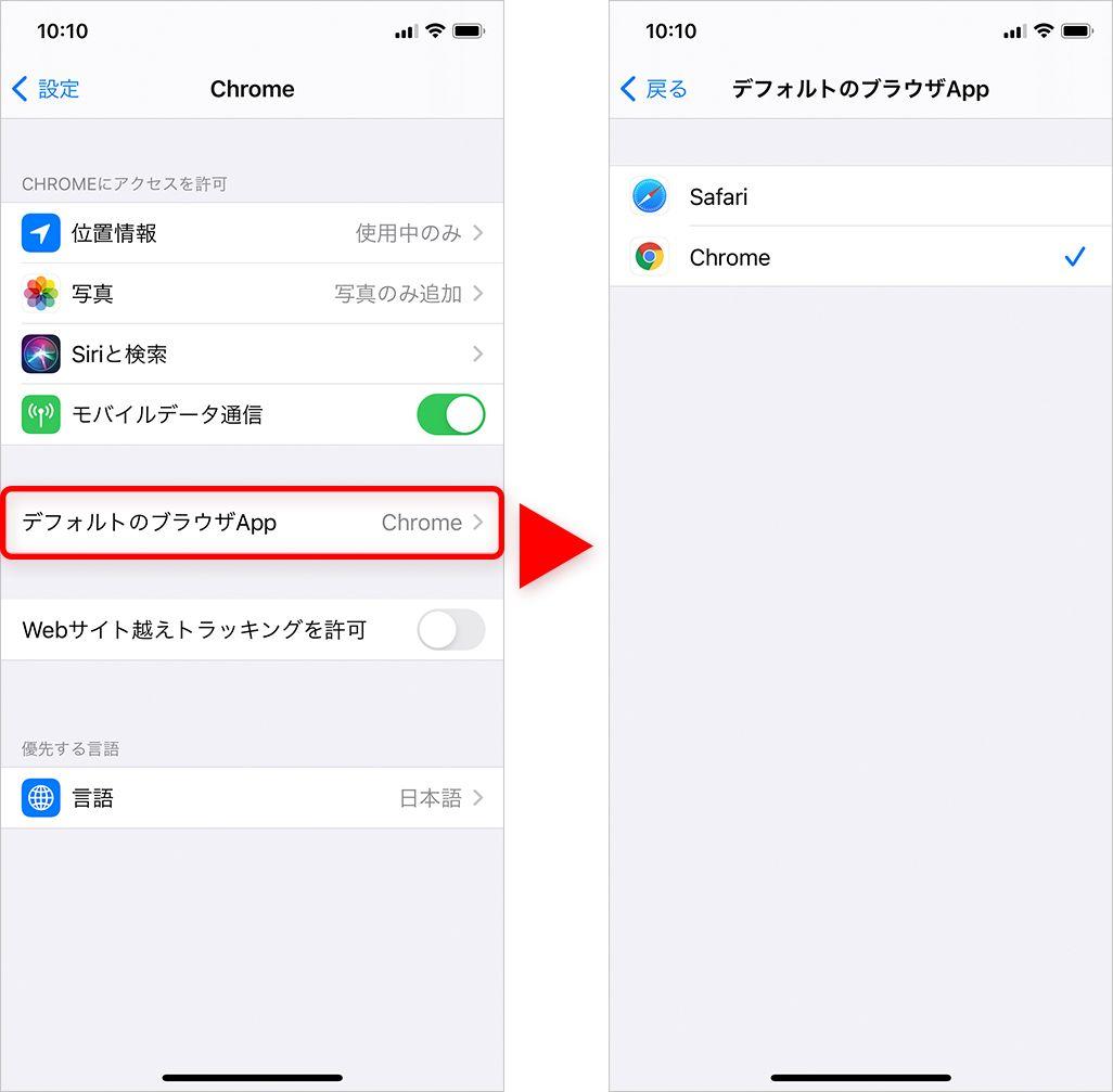 iOS 14のデフォルトアプリの変更
