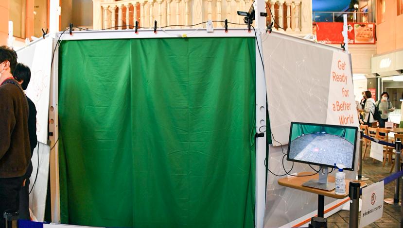 キッザニアのぐるっと自由視点 撮影サービス体験ブース入り口