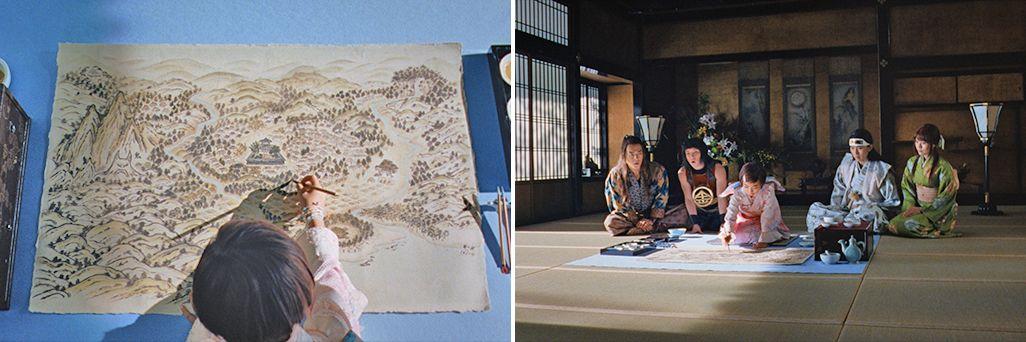 三太郎CMで絵の才能を発揮する桃姫