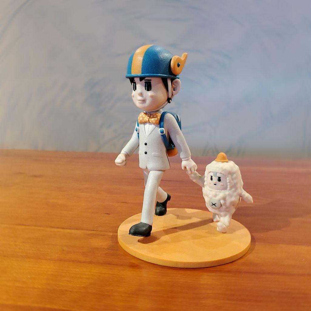 大ちゃん人形で撮影した「スピンボケ」