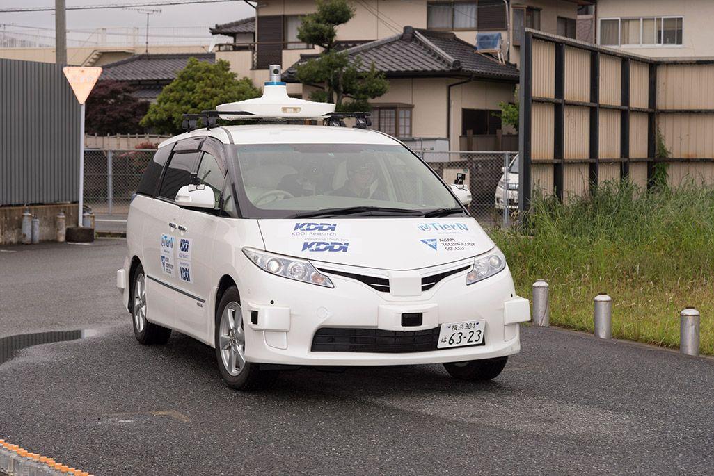 KDDIの自動運転テスト車