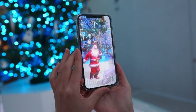 GINZA 456のクリスマスツリーアプリ