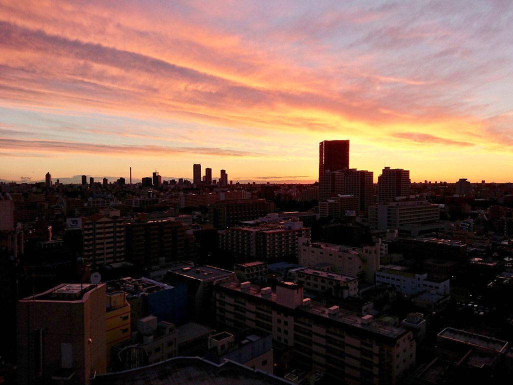 Xperia 1で撮影した朝焼けの作例