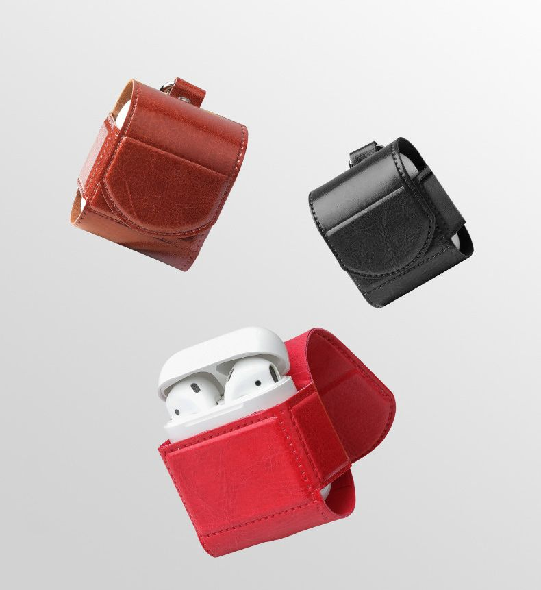 for AirPods PROTECTIVE LEATHER CASE