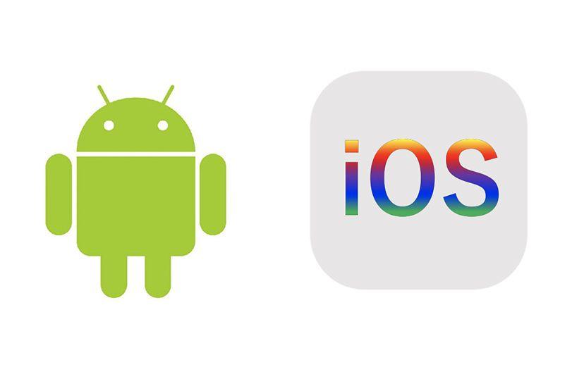 「Android」のイメージキャラクター「ドロイド君」とiOS