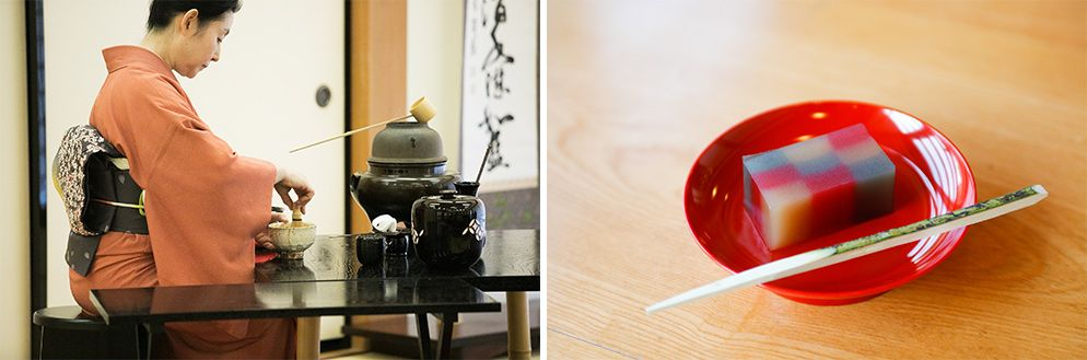 北鎌倉にある建長寺で開催されたINFOBAR xvイベントでの茶道体験