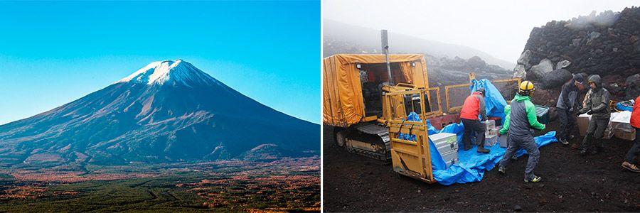 富士山頂エリア化の模様