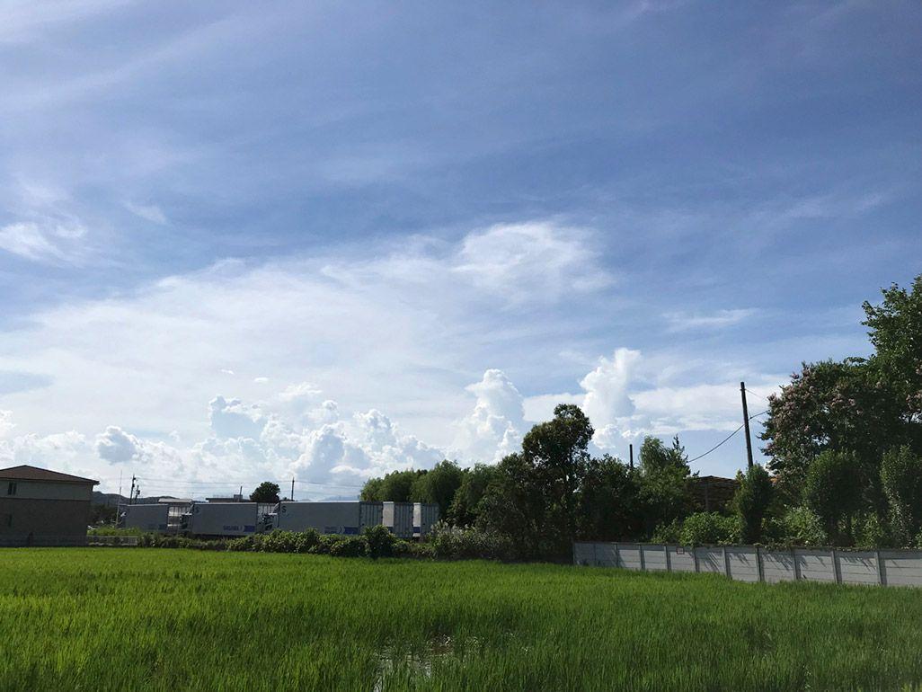 iPhoneで通常撮影した「夏の入道雲」