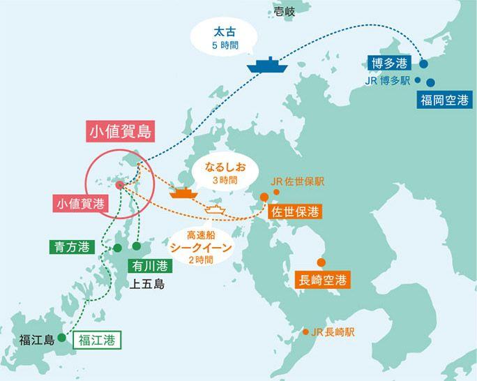 小値賀島の地図