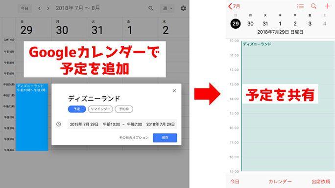 iPhoneカレンダー Googleカレンダーとの同期