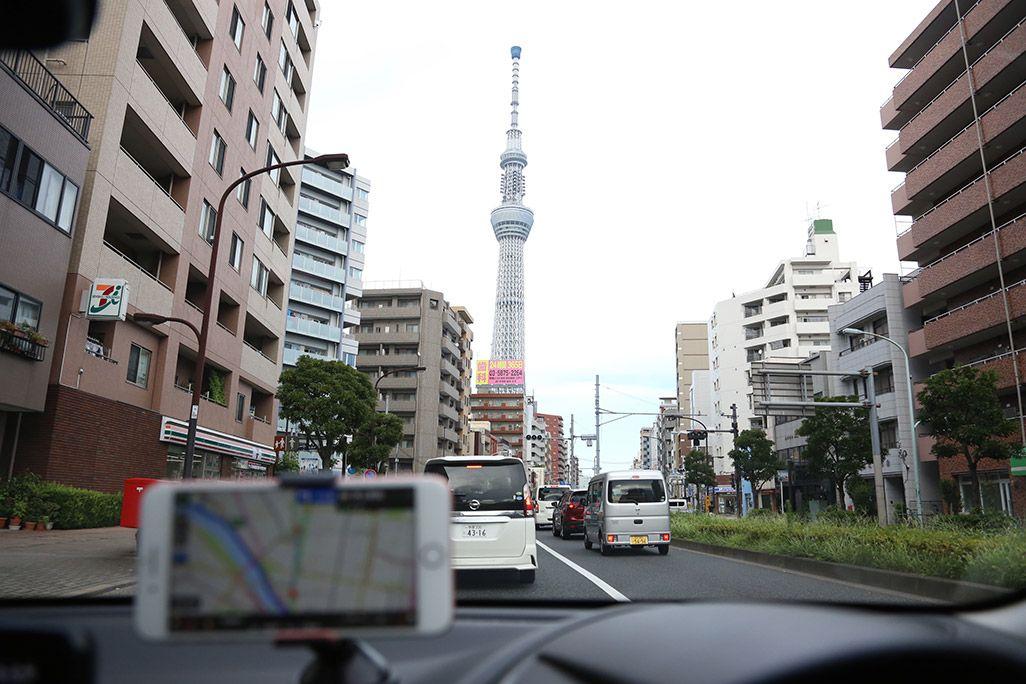「au助手席ナビ」で東京スカイツリーを目指す