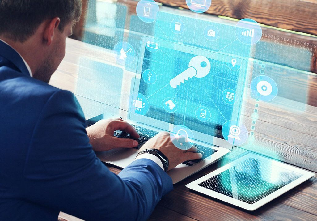 PCと暗号化システムのイメージ