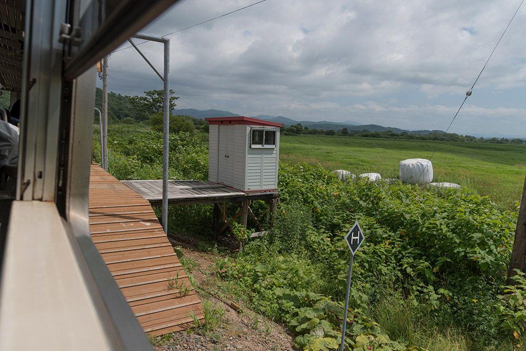 北海道 宗谷本線の車窓から見た下沼駅
