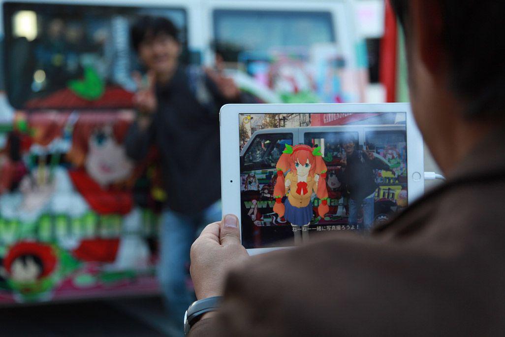 飯田市の「ナミキちゃん」とARでツーショット撮影