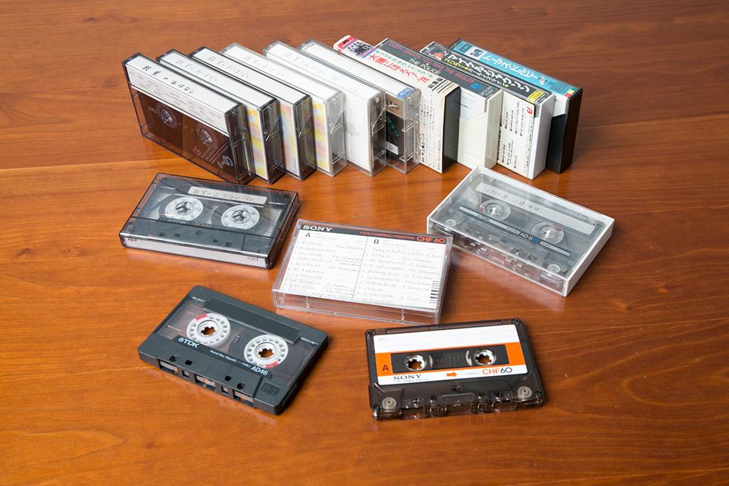 懐かしいカセットテープ
