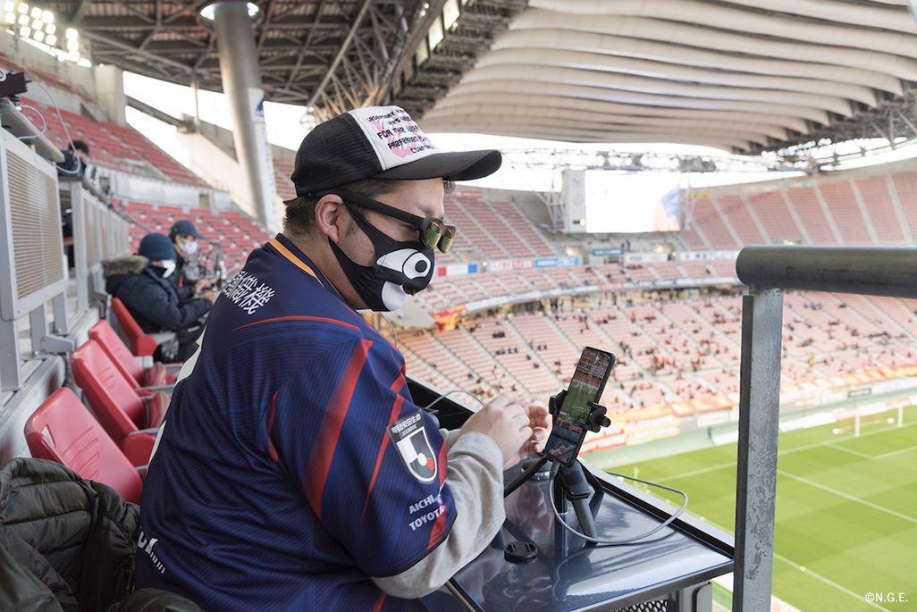 名古屋サポーターの伊藤さんに「au 5Gシート」でお話を伺った
