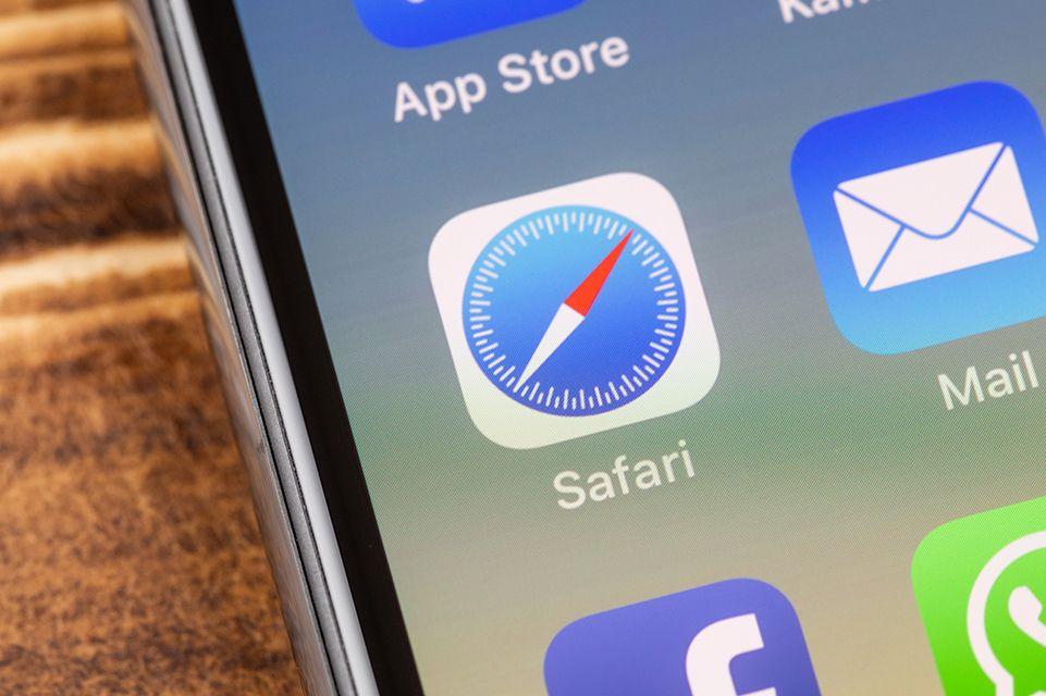 iPhoneの画面に表示されたSafariのアイコン